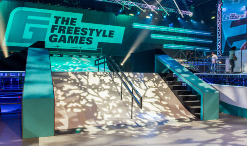 Foto van de Freestyle Games obstakels